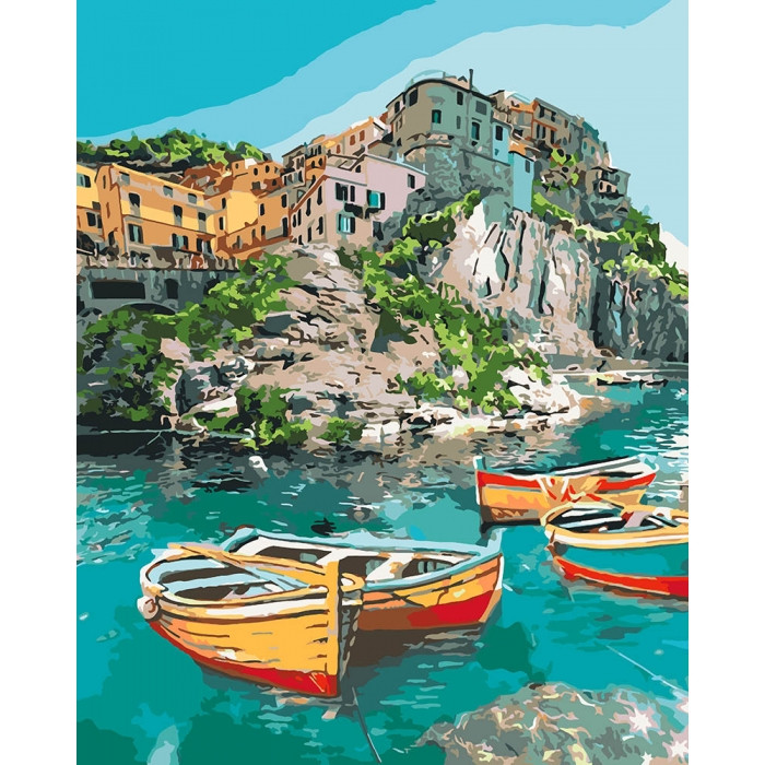 Картина по номерам Уютная бухта КНО2741 Идейка 40x50см