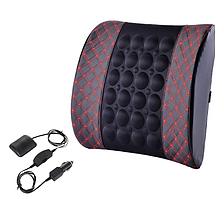 Подушка вибромассажер для спины в авто автомобиль кожаный