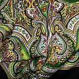 Испанский 710-10, павлопосадский платок шерстяной  с шелковой бахромой, фото 5