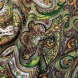 Испанский 710-10, павлопосадский платок шерстяной  с шелковой бахромой, фото 8