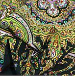 Испанский 710-10, павлопосадский платок шерстяной  с шелковой бахромой, фото 7