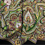 Испанский 710-10, павлопосадский платок шерстяной  с шелковой бахромой, фото 9