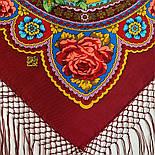 Времена года. Лето. 707-6, павлопосадский платок (шаль) из уплотненной шерсти с шелковой вязаной бахромой, фото 10