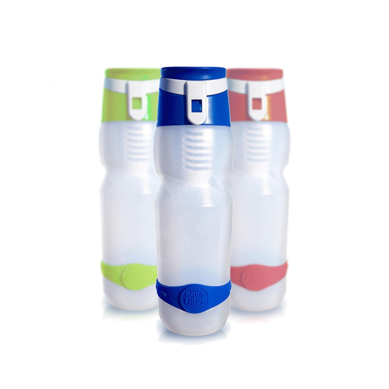 Пляшка DWETS з фільтром в синьому, червоному і зеленому кольорі