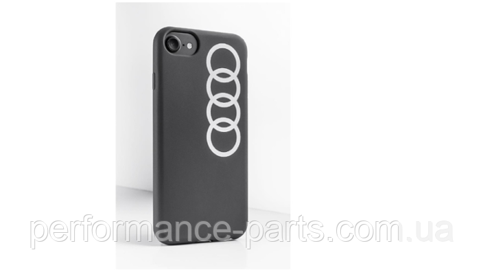 Чехол Audi для Apple iPhone 6/6s/7/8, Case Audi Rings, Dark Grey, 3221800100