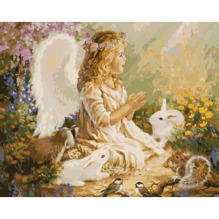 Картина за номерами Ангел КНО2306 Ідейка 40х50см