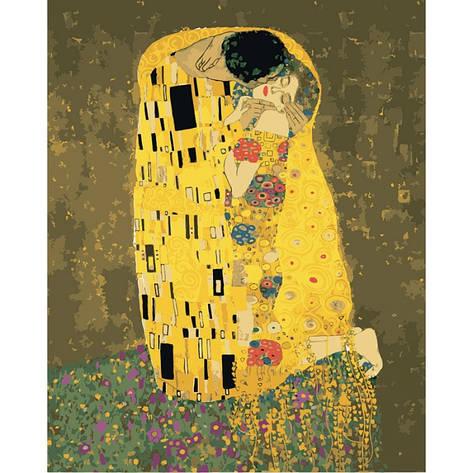Картина по номерам Аура поцелуя 2 Густав Климт КНО4534 Идейка 40x50см, фото 2