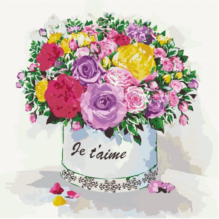 Картина по номерам Подарок любимой   КНО2089 Идейка 40x40см