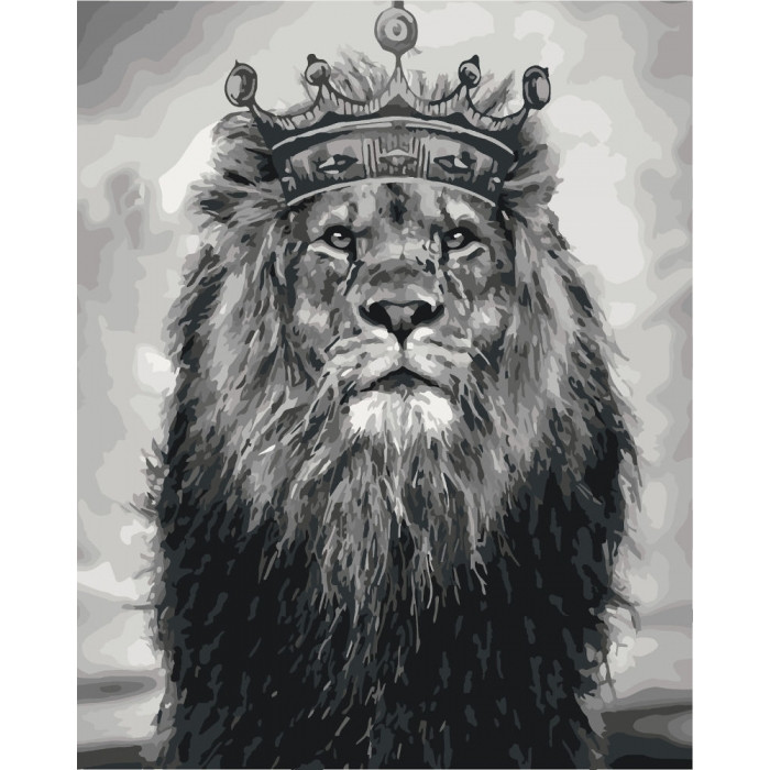 Картина по номерам Король Лев КНО4079 Идейка 40x50см