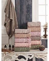 Хлопковые полотенца с кисточками, Sikel Hitit 50х90. Турция