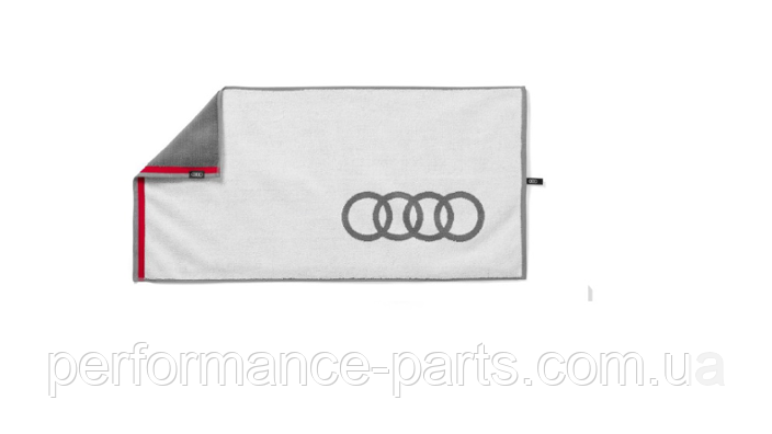 Банное полотенце Audi Bath Towel, White/Grey, артикул 3131803000