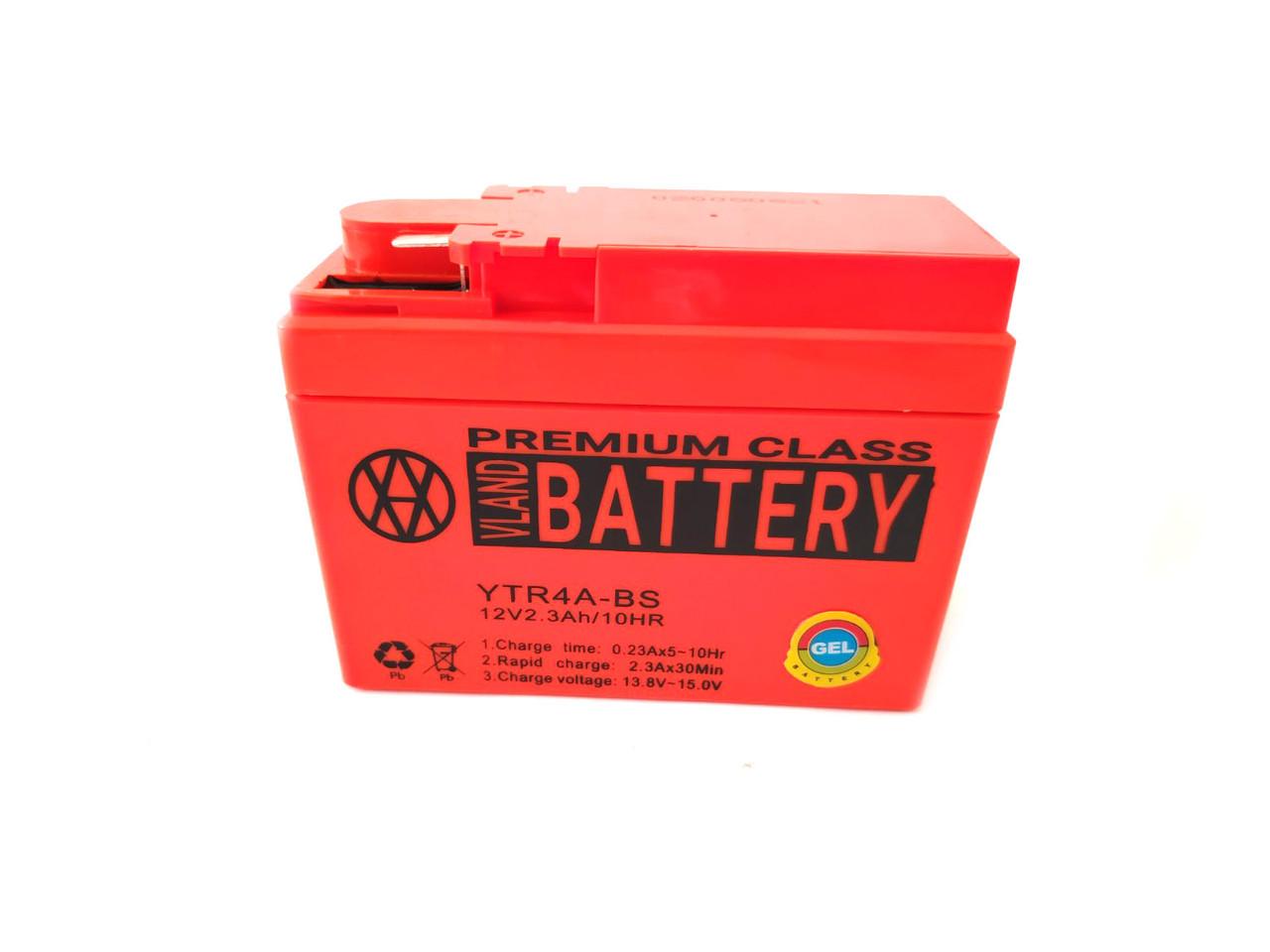 Аккумулятор 2,3A 12V Honda DIO AF-34/35 2020r (YTR4A-BS) VLAND 113x49x85
