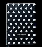 Блокнот деловой RELAX А5 96л. клетка, иск. кожа, черный, фото 2