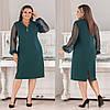 Женское силуэтное платье рукава из сетки 50,52, 54, 56, фото 3