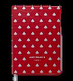 Блокнот деловой RELAX А5 96л. клетка, иск. кожа, красный, фото 2