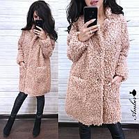 Пальто из искусственного меха, плотное теплое курчавое