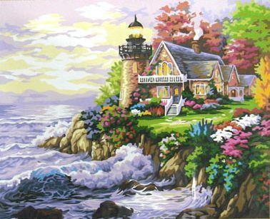 Картина за номерами Будиночок біля маяка КНО115 Ідейка 40х50см