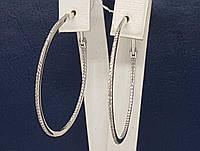 Золоті сережки з фіанітами. Артикул СВ797(М)БІ, фото 1