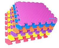 Коврик пазлы «Радуга», EVA, 12 элементов, 2000×1500×10мм, площадь 3м², плотность 100кг/м³