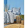 Постельное белье Karaca Home ранфорс - Lanika mavi 2020-1 голубой евро, фото 2