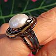 Серебряное кольцо с крупным жемчугом - Брендовое итальянское кольцо с жемчугом, фото 9