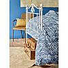 Постельное белье Karaca Home ранфорс - Lanika mavi 2020-1 голубой евро, фото 3