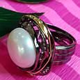 Серебряное кольцо с крупным жемчугом - Брендовое итальянское кольцо с жемчугом, фото 2