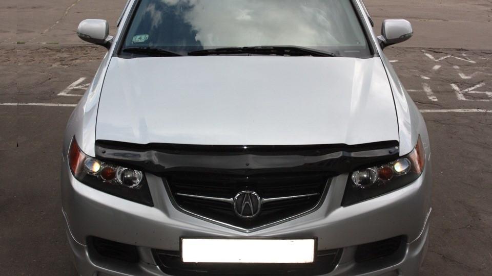 Дефлектор капота  Acura TSX 2003–06, Мухобойка Acura TSX