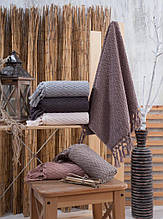 Хлопковые полотенца с кисточками, Sikel Kapadokya  50х90. Турция