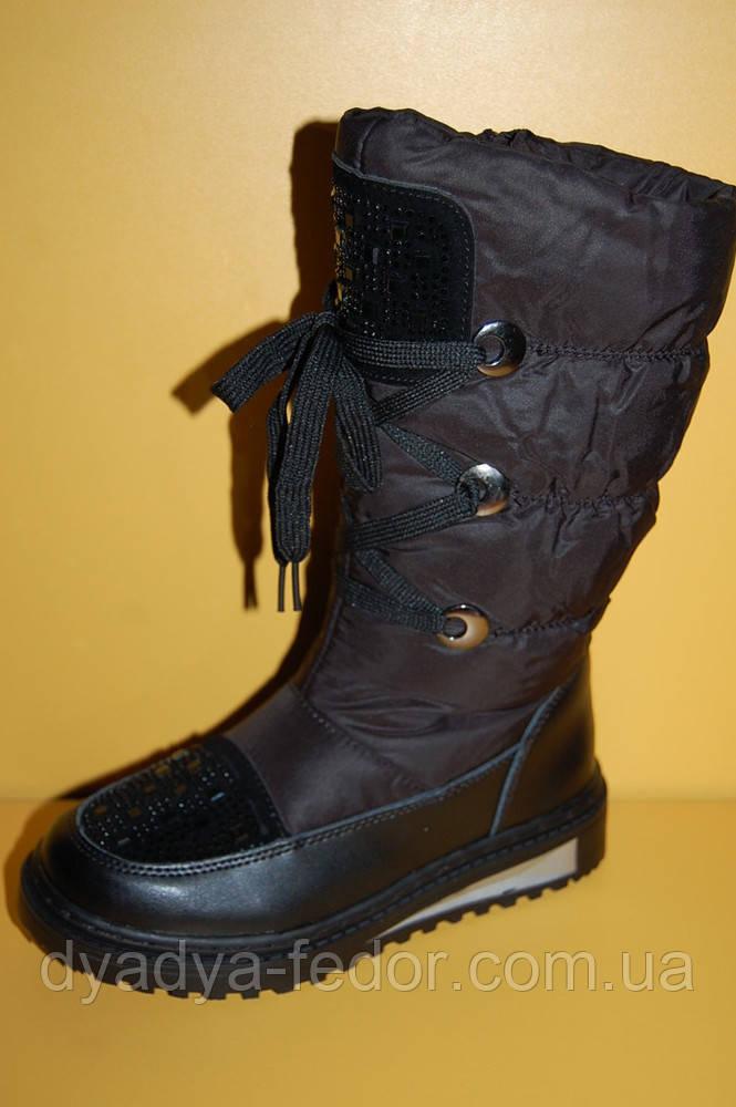Детская зимняя обувь Том.М Китай 1900 для девочек черные размеры 33_38