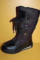 Детская зимняя обувь Том.М Китай 1900 для девочек черные размеры 33_38, фото 1