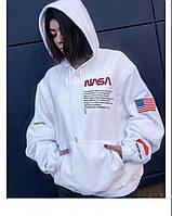 Толстовка стильная Heron Preston x Nasa logo | худи белая с оригинальной биркой