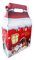 Новорічна упаковка на цукерки Ексклюзивний новорічний будинок