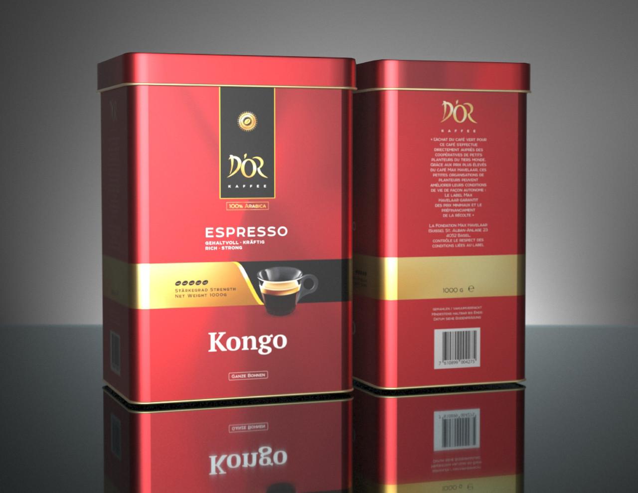 DOR Espresso розташовують kongo друкують 1 кг. зерно