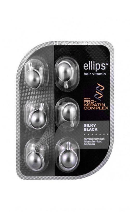 "Ellips Vitamin Hair Silky Black With Pro-Keratin Complex Вітаміни для волосся ""Шовкова ніч"""