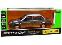Машинка игровая Автопром «ВАЗ 21099» Тёмно-серый (свет, звук)