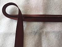Коса бейка атласна шоколадного кольору, ширина 1,5 см, фото 1