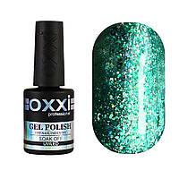 Гель-лак Oxxi Professional Star Gel №007 зелений зі слюдою і переливними блискітками, 10 мл