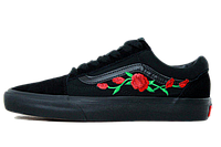 Кеды Vans Old Skool Roses Patch All Black