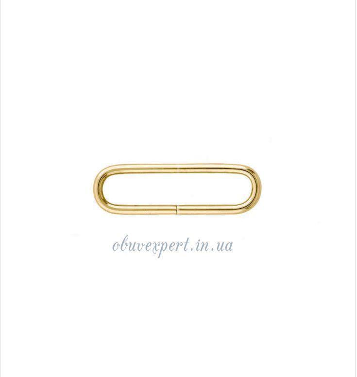 Рамка дротова 30*6 мм, товщ. 2 мм Світле золото