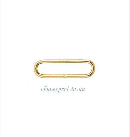 Рамка дротова 30*6 мм, товщ. 2 мм Світле золото, фото 2