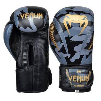Боксерские перчатки Venum Giant, натуральная кожа, вес - 10 и 12 (унций)