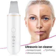 Портативный ультразвуковой скрабер Lefin Face Skin Care Tools, фото 2