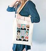 Эко сумка шоппер с принтом БТС (BTS)  (9227-1084)