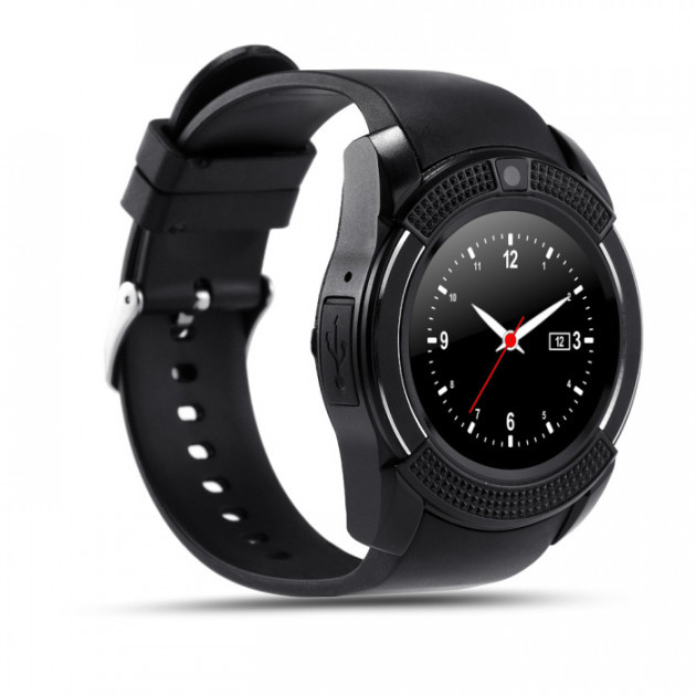 Смарт-часы UWatch SmartWatch SW V8 Black (STD01371), фото 1