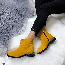 Желтые замшевые ботинки, фото 2