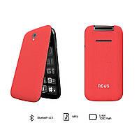 Телефон бабушкофон ракладушка NOUS Helper Flip NS2435 Red
