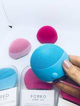 Foreo LUNA mini 2 силиконовая щетка массажер для чистки лица, фото 2