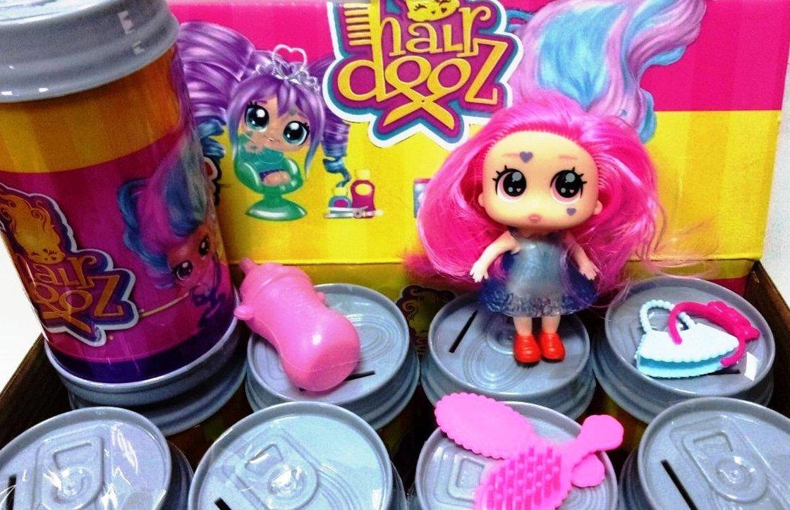 "Кукла сюрприз с волосами ""Hairdooz "" банка-копилка"