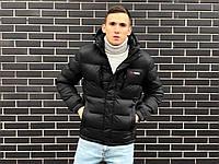 Зимняя черная мужская курточка, черная зимняя куртка